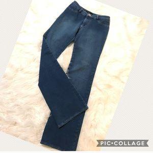 Theory Sweatpants Jeans Slim Cut Flare sz 2 x 32.5